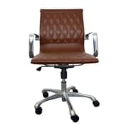 Woodstock Marketing Annie Mid-Back Conference Chair with Arms; Brown