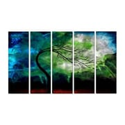 All My Walls 'The Beauty at the End' by Jaime Zatloukal Best 5 Piece Graphic Art Plaque Set