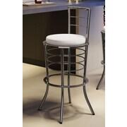 Amisco New York Style 30'' Bar Stool with Cushion; Magnetite