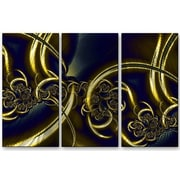 All My Walls 'Black and Gold' by Victoria Brago 3 Piece Graphic Art Plaque Set