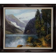Tori Home Lake Louise and British Columbia by Potthast Framed Hand Painted Oil on Canvas