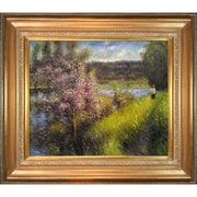 Tori Home The Seine at Chatou by Renoir Framed Hand Painted Oil on Canvas
