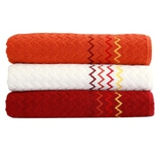 Linum Home Textiles Montauk ''Zig Zag'' Bath Towel (Set of 3)
