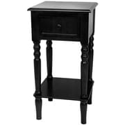 Oriental Furniture End Table; Black
