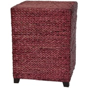 Oriental Furniture Rush Grass End Table; Mahogany