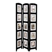 nexxt Design 64'' x 33'' 3 Panel Room Divider; Black