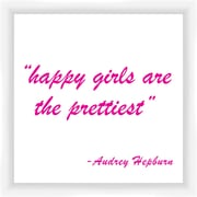 PTM Images Happy Girls II Gicl e Framed Textual Art