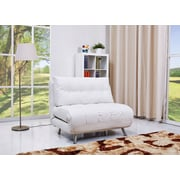 Gold Sparrow Tampa Convertible Chair; White