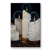 All My Walls 'White Candles' by Elaine Hodges Painting Print Plaque