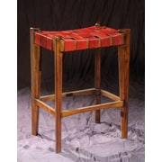 William Sheppee Old Glory City 30'' Bar Stool; Ruby