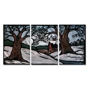 All My Walls 'Winter Landscape' by John Schirmer 3 Piece Painting Print Plaque Set
