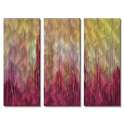 All My Walls 'Hot to the Touch' by Daniel MacGregor 3 Piece Painting Print Plaque Set
