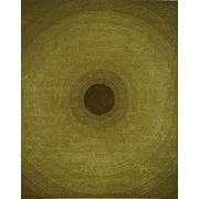 InnerSpace Luxury Products Artistry Green Circle Rug; 8' x 10'
