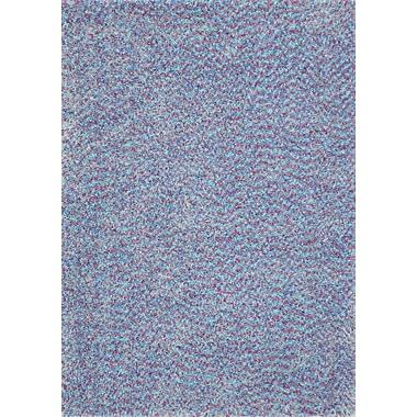 InnerSpace Luxury Products Vivoli Purple and Blue Kids Area Rug