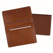Royce Leather Genuine Leather Executive File Organizer Portfolio; Tan