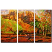 All My Walls 'Castle Mt.' by Brian Simons 3 Piece Painting Print Plaque Set