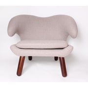 dCOR design Pelican Lounge Chair; Wheat
