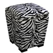 ORE Furniture Zebra Storage Ottoman
