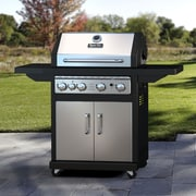 Dyna-Glo 60,000 BTU 4-Burner Propane Gas Grill with Cast Iron Grates and Side Burner