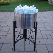 Oakland Living Coolers 14'' Stainless Steel Ice Bucket and Stand