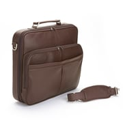 Royce Leather American Genuine Leather 17'' Laptop Slim Briefcase; Coco