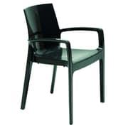 VIG Furniture Cream Arm Chair; Anthracite