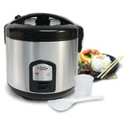 Cuizen 20-Cup Stainless Steel Rice Cooker with Steam Tray