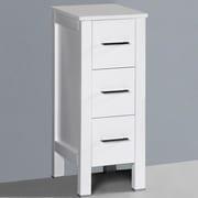 Bosconi Contemporary 12'' x 31'' Free Standing Linen Cabinet; White