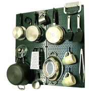 Wall Control Kitchen Organizer Pots & Pans Pegboard Pack; Green / Black