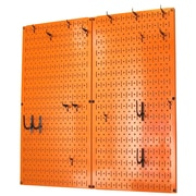Wall Control Kitchen Organizer Pots & Pans Pegboard Pack; Orange / Black