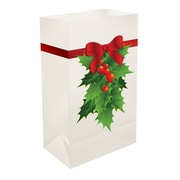 LumaBase Holly Plastic Luminaria Bag (Set of 12)