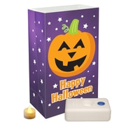 LumaBase 12 Light Pumpkin Battery Operated Luminaria Kit