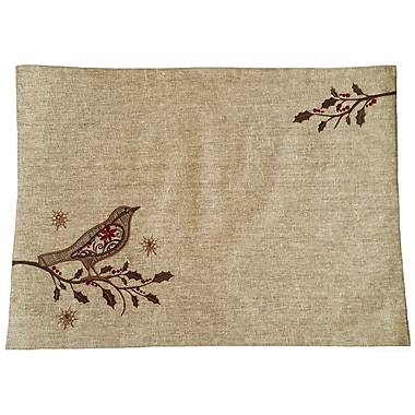 Xia Home Fashions Bird on Twig Emboridery Placemat