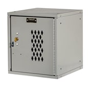 Hallowell Cubix 1 Tier 1 Wide Modular Locker; Platinum