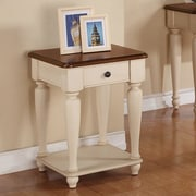Winners Only, Inc. Regal End Table; Molasses / White