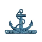 Handcrafted Nautical Decor Anchor 7'' Rustic Silver Cast Iron Wall Hooks