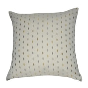 Loom and Mill Decorative Cotton Throw Pillow; Cream, Gray, Taupe, Steel, Tan and Yellow