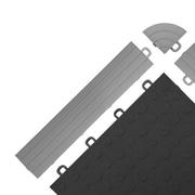 BlockTile Interlocking Ramp Edges in Gray without Loops