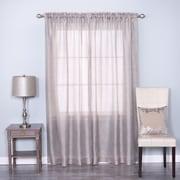 Best Home Fashion, Inc. Venice Sheer Damask Rod Pocket Curtain Panels (Set of 2); Gray