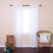 Best Home Fashion, Inc. Vintage Leaves Burnout Sheer Rod Pocket Curtain Panels (Set of 2); White