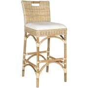 Safavieh Fremont 30'' Bar Stool with Cushion; Natural