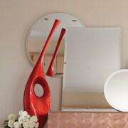 Howard Elliott Frameless Round Wall Mirror; 12'' H x 12'' W x 1'' D