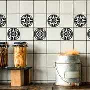 Odhams Press Retile Breton Wall Decal (Set of 10); Black on White