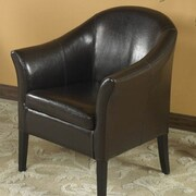 Armen Living 1404 Barrel Chair; Black