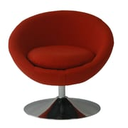Fox Hill Trading Astro Disc Base Barrel Chair; Rouge