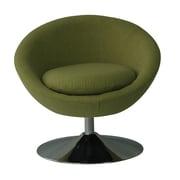 Fox Hill Trading Astro Disc Base Barrel Chair; Grasscloth