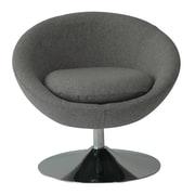 Fox Hill Trading Astro Disc Base Barrel Chair; Felt Gray
