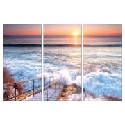 Antique Revival Crashing Waves 3 Piece Photographic Print Set