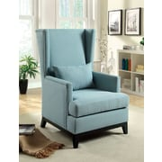 Hokku Designs Amory High Back Arm Chair; Blue