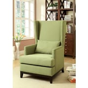 Hokku Designs Amory High Back Arm Chair; Green
